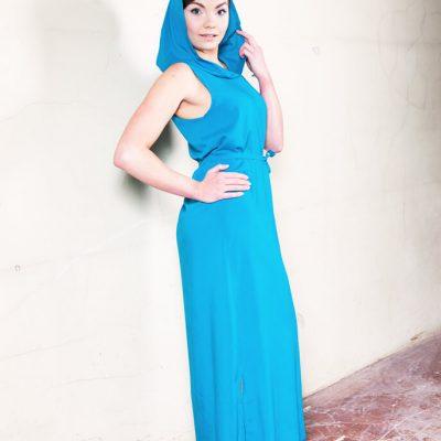 Luoto mekko, Sky blue stripes   KOTO Designmarket